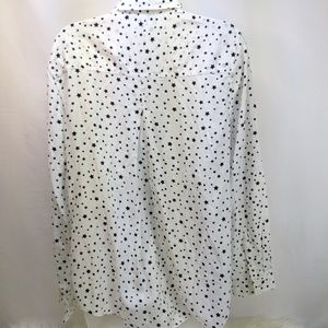 beachlunchlounge Tops - Black and White Star Button Down Shirt
